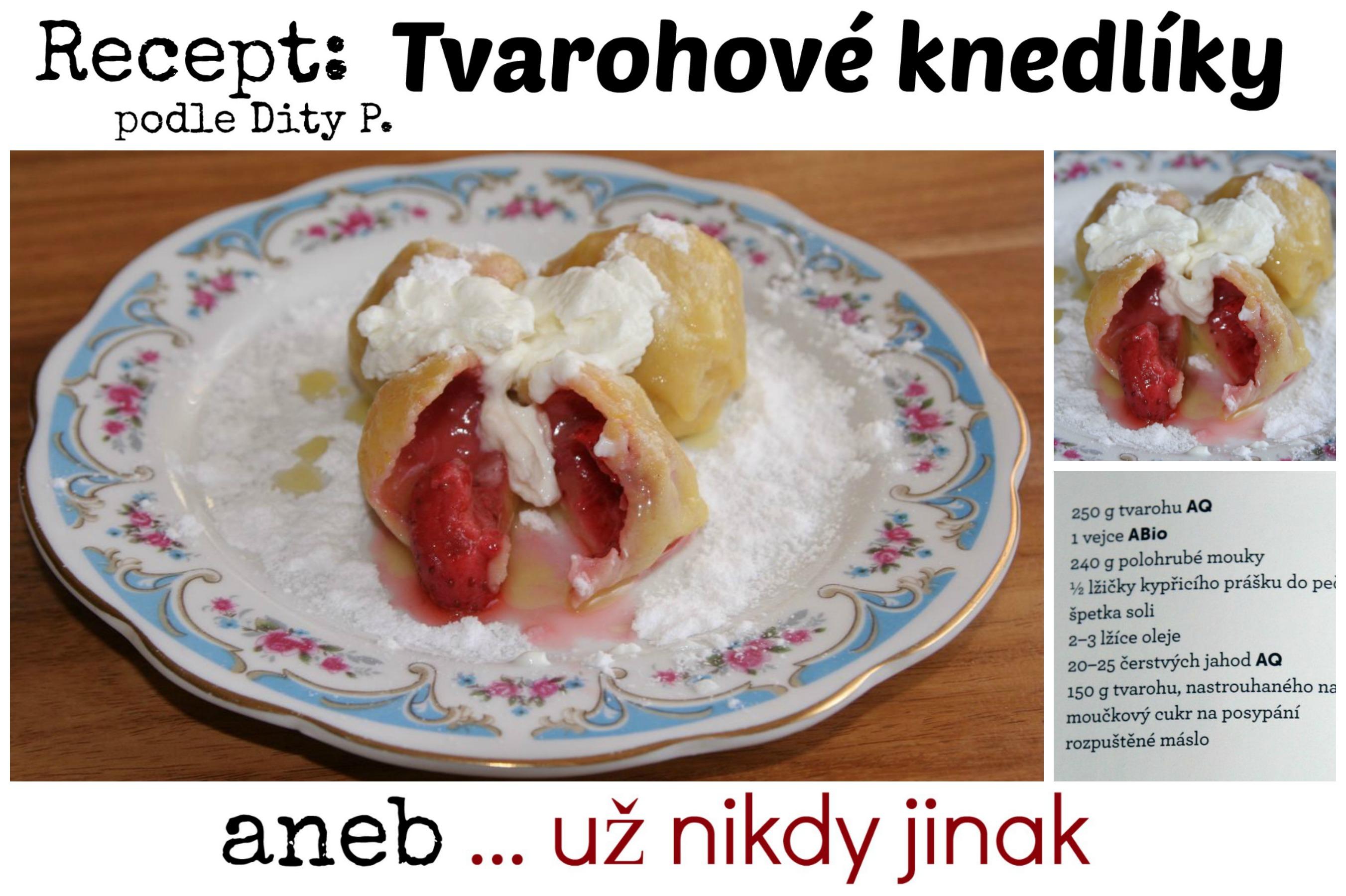 Recept na tvarohové knedlíky